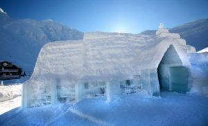 Ice Hotel at Balea Lake