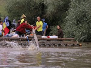 Slow Rafting on River